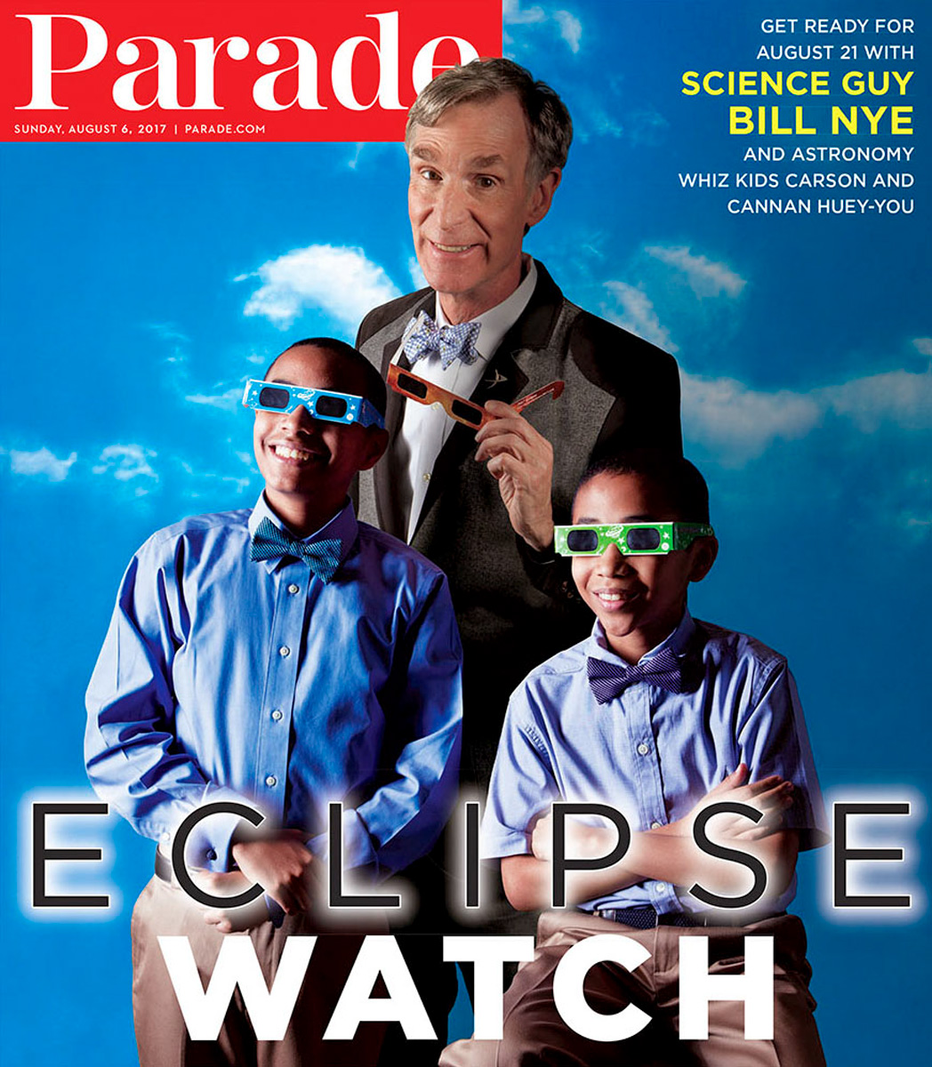 Bill Nye photographed in Pasadena, California for Parade Magazine