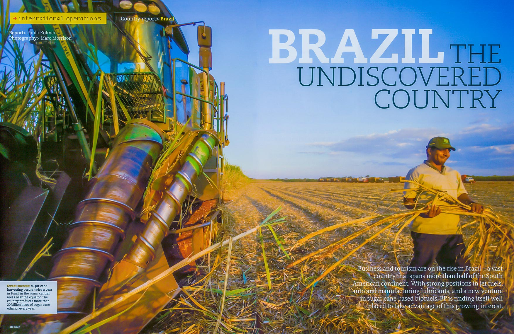 Biofuels library shoot in Brazil for BP Tropical BioEnergia SA in central Brazil.