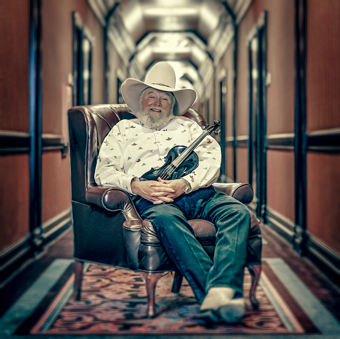 Charlie Daniels, country music legend during a publicity campaign in Las Vegas, NV.
