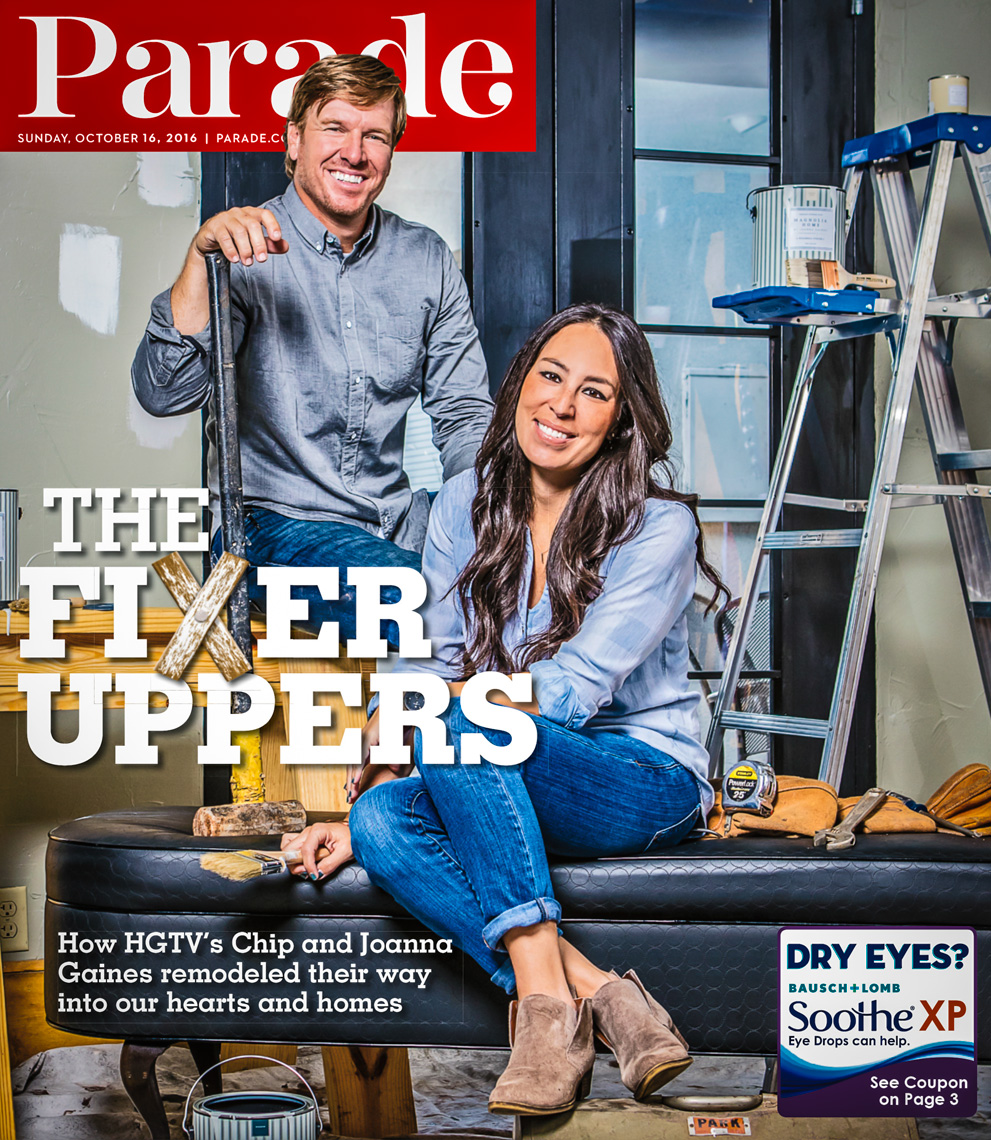 Chip and Joanna Gaines portraits photographed in Waco, Texas for Parade Magazine.