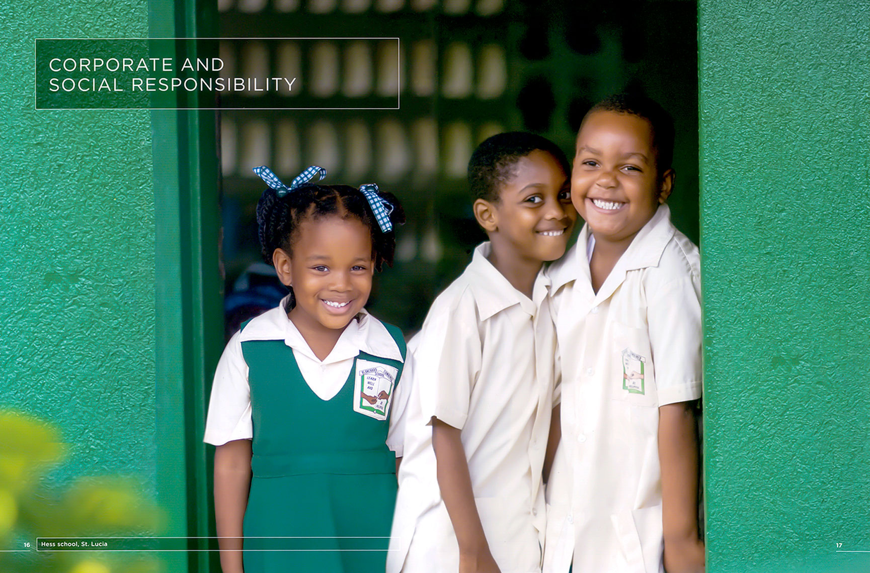 Students attend school in St. Lucia, BVI. This campaign was shot for HESS annual report.