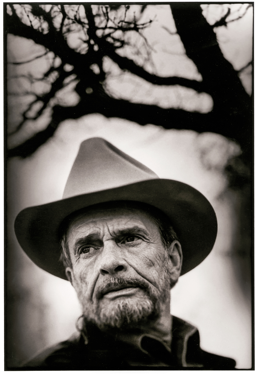 Country music legend Merle Haggard at his home in Mount Shasta, California.