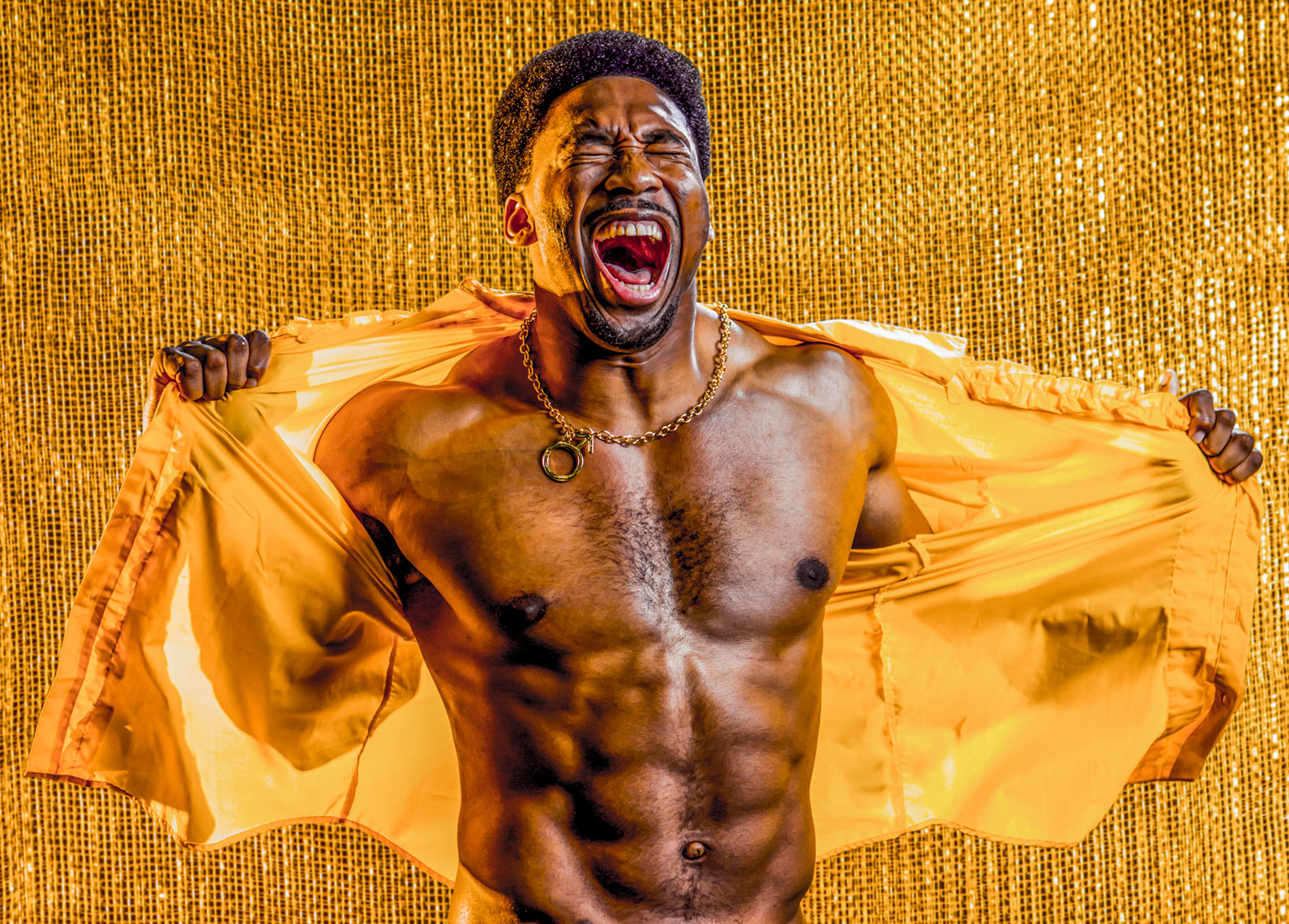 NFL Cleveland Browns defensive end Myles Garrett  photographed for Parade Magazine .