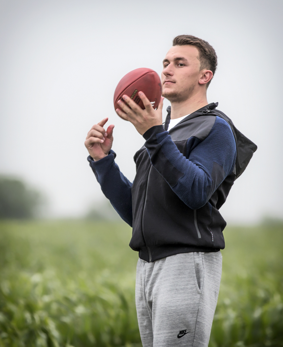Heisman Trophy winner Johnny Manziel photographed for NIKE in Elgin, Texas.
