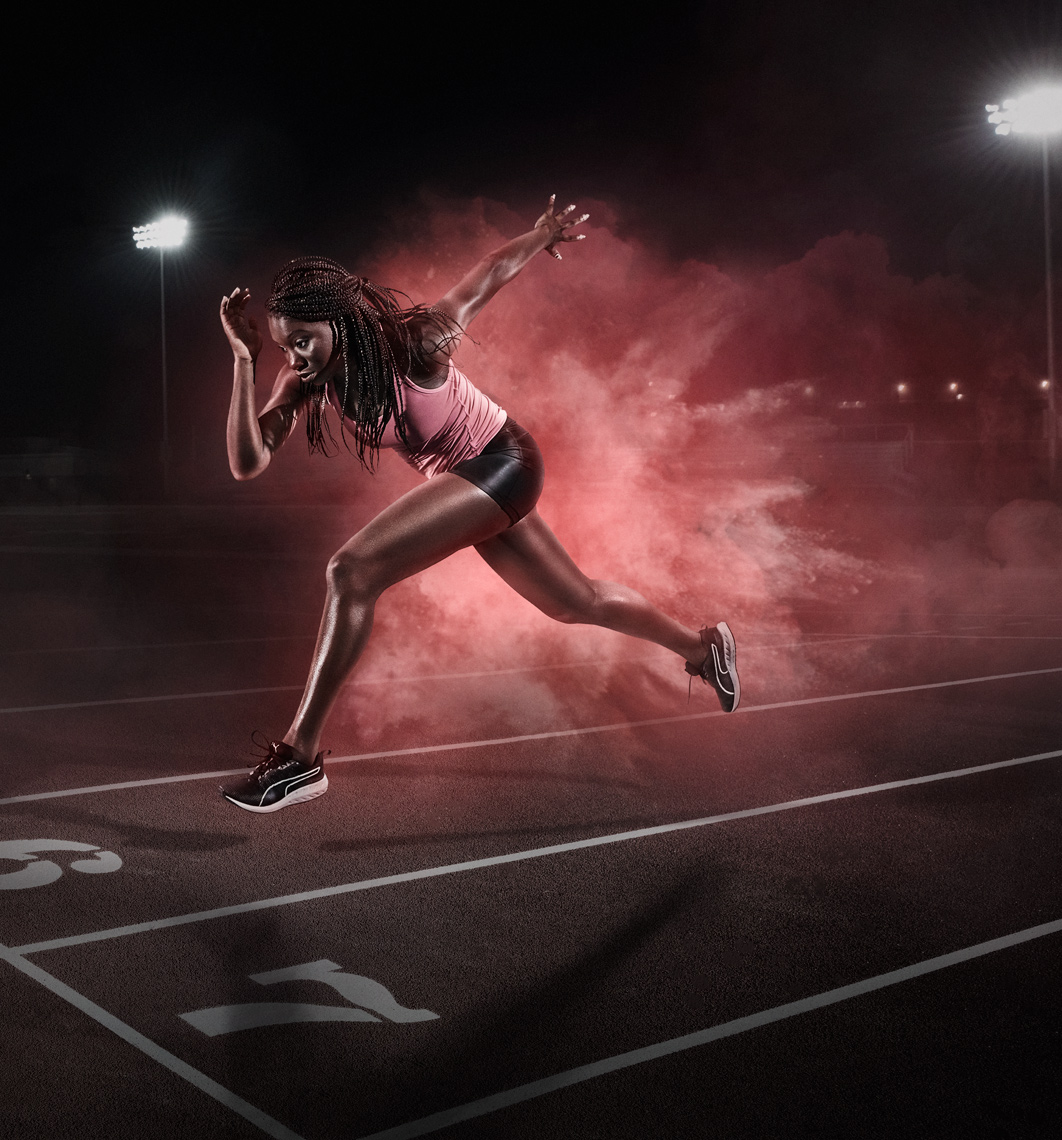 Paralympic track athlete Nyoshia Cain  photographed in Trinidad for Ogilvy for BP.