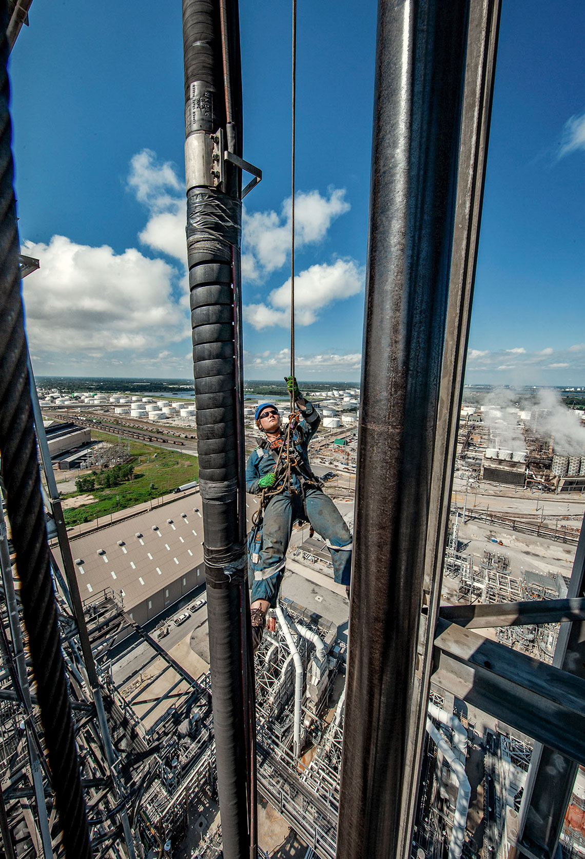 Rope Access in Whiting Refinery on Coker
