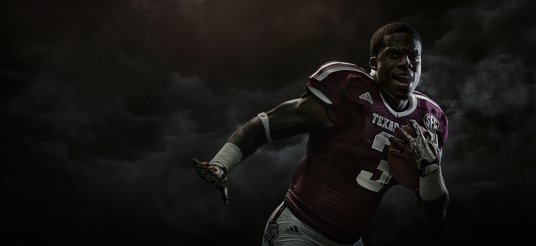 Texas A&M college football player Trey Williams photographed in College Station, Texas